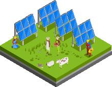 ソーラーシェアリング<br>(営農型太陽光発電設備)<